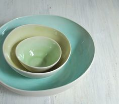 handmade porcelain bowls from studio one