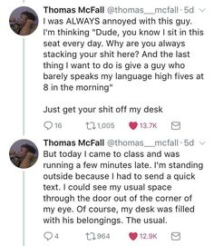 Guy's Story About Foreign Classmate Will Pleasantly Surprise You - The internet has generated a huge amount of laughs from cats and FAILS. Funny Tweets, Funny Quotes, Funny Memes, 9gag Funny, Memes Humor, Funny Tumblr Stories, Tumblr Funny, Drunk Humor, Funny Drunk