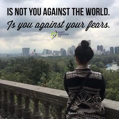 """""""Is not you against the world.  Is you against your fears."""" Mary Miranda.  Fear is the #1 reason why we are not living the life we are meant for.  Why we don't take chances in life.  Why we are afraid of being in love.  Why we stay in jobs we hate.  Why we don't start a business.  Being afraid is just keeing you for living a fulfilling life.  Dont live with regrets of what could have happened act and face your fears so you never wonder.  My 2017 intention is to eliminate fear from my life…"""