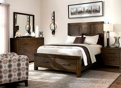 Sofia Vergara Santa Clarita Dark Cherry 5 Pc Queen Bedroom with ...