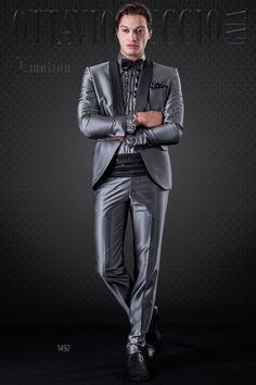 Grey Tuxedo with shawl black lapel