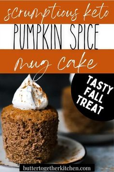 'Tis the season for pumpkin spice, and this Keto Pumpkin Spice Mug cake is everything you've dreamed of! In just a few minutes, using just a few ingredients, you can satisfy all your pumpkin spice cravings with this mug cake recipe from Butter Together Kitchen! This is perfect to try this holiday season! Sugar Free Desserts, Easy Desserts, Delicious Desserts, Cake Sizes And Servings, Cake Servings, Keto No Bake Cheesecake, Pumpkin Cheesecake, Cake Recipes, Dessert Recipes