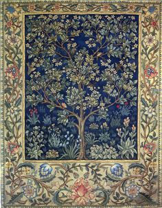 John Henry Dearle Morris & Co 1910 embroidered portiere