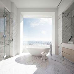432 Park Avenue, New York City, USA is the address of this modern pintrest worthy bathroom