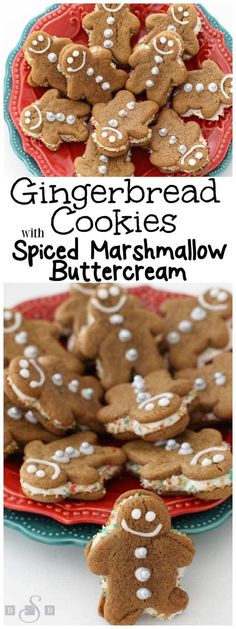 Gingerbread Cookies with Spiced Marshmallow Buttercream - Butter With A Side of Bread