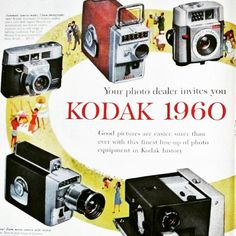 Say cheese! This original vintage advertisement for Kodak Cameras would make a great gift for the photographer in your life!