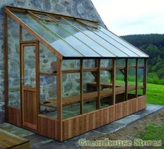 Swallow Dove Lean to Greenhouse with toughened glass. Swallow Dove wooden lean-to includes locking door, 10 Year Warranty and free installation.