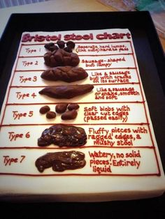 Bristol Stool Sample Cake – Eat Your Heart Out Funny Birthday Cakes, Funny Cake, 40th Birthday, Cake Wrecks, Bristol Stool Chart Cake, Cupcakes, Cupcake Cakes, Poop Cake, Medical Cake