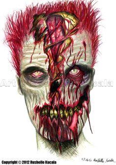 ☆ Bruce the Zombie :: Artist Rushelle Kucala ☆