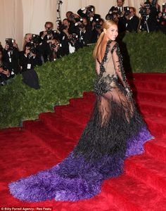 Beyonce in Sheer sequin Givenchy Haute Couture gown #MetBall2012 #CostumeInstituteGala