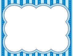 Blue Frame ables Marcos para fotos infantiles or Poster - Buy more Prints at Wallpart Boarders And Frames, Printable Frames, Colorful Frames, Page Borders, Borders For Paper, Frame Clipart, Binder Covers, Border Design, Journal Cards