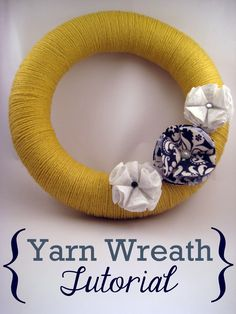 Super cheap way to create a yard wreath with a pool noodle, duct tape, and yard... it doesn't show how to add the flowers/embellishments