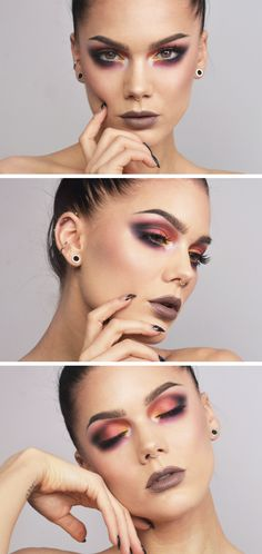 TODAYS LOOK | MI VIDA LOCA / She always has so interesting and inspiring ideas! This one is really impressive! So colorful and memorable makeup! It makes you smile! The lipstick is adorable! And she has awesome piercings! Makeup Goals, Makeup Inspo, Makeup Art, Makeup Inspiration, Makeup Tips, Beauty Makeup, Hair Makeup, Linda Hallberg, Makeup Techniques