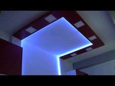 Oświetlenie LED w domu, lampy LED RGB sufitu w pokoju. - YouTube