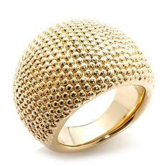 Bellezza High-Polished Dot-Textured Dome Ring