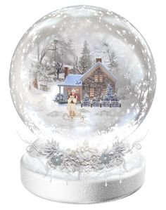 """Winter Snow Globe ❄️"" by isabellaalexa ❤ liked on Polyvore featuring art"