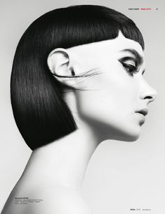 Feather Cut, Sideburns, Mullets, Black And White Photography, Artwork, Hair, Fashion, Black White Photography, Moda