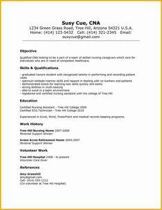 Nursing Assistant Cover Letter Samples Nursing Amp College