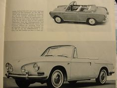 Karmann Ghia advertising by Edmondo Segre' father documents