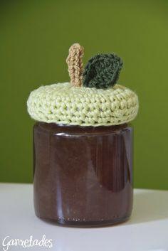 Ganxetades: Melmelada de pera i canyella, Tapa de crochet. Inspiración ♡ Teresa Restegui http://www.pinterest.com/teretegui/ ♡