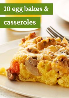 """10 Egg Bakes & Casseroles – From festive breakfast and brunch egg bakes to budget-friendly dinners and """"anytime"""" casseroles, there's no easier way to please a crowd than by serving baked eggs."""