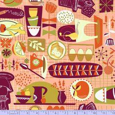 9564-0130, R37 KITSCHY KITCHEN by Greta Songe for Studio 37, Marcus Fabrics