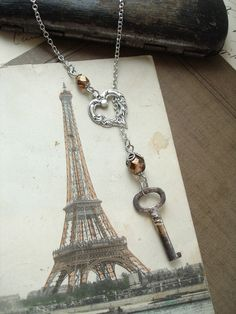 Key as jewelry clasp --- cool!