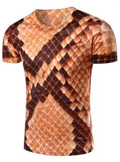 GET $50 NOW | Join RoseGal: Get YOUR $50 NOW!http://www.rosegal.com/mens-t-shirts/3d-snakeskin-printed-round-neck-short-sleeve-t-shirt-for-men-459053.html?seid=7640221rg459053