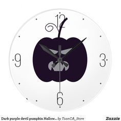 Dark purple devil pumpkin Halloween