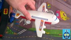 Dickie Toys Airport City: airplane, trucks, parking garage and helicopter
