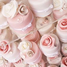 wedding petit fours by cakes alouisa These are beautiful.