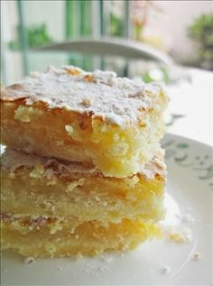 Lemon Bars ~ These were just perfect, not too tart and not too sweet, just PERFECT!