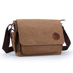 OXA Durable Fashion Vintage Canvas Messenger Bag Laptop Bag Ipad Bag Bookbag Satchel Crossbody Bag Shoulder Sling Bag Shopping Bags Outdoor Sports Travel Casual Weekend Bag for Men and Women Brown OXA http://www.amazon.com/dp/B016KBV9SO/ref=cm_sw_r_pi_dp_S9BUwb05B1CZ6