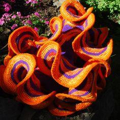 Tejido de crochet hiperbólico.