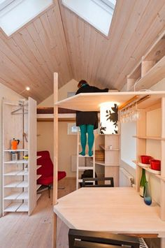 Sweden's Technical Week shares a story on a 94 square foot tiny home that celebrates Swedish clean design, but is also making a statement.  #technical_week #Swedish_design #http://tinyhouseblog