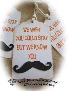Mustache Party Favor Tag Gift Punny Parting Gift Hang Tag TeamScrapbookNinjas.