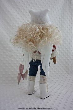 Человечки ручной работы. Ярмарка Мастеров - ручная работа текстильная кукла Ashley продана. Handmade.