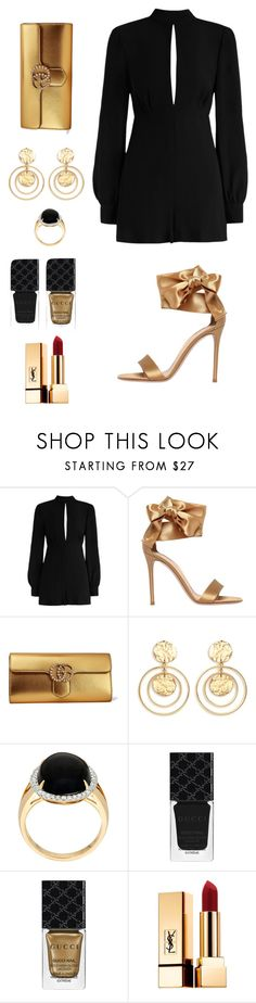 """Untitled #65"" by ladyasdis ❤ liked on Polyvore featuring Zimmermann, Gianvito Rossi, Gucci, Kenneth Jay Lane and Yves Saint Laurent"