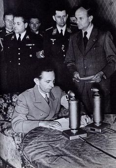 Via radio broadcasting Dr. Joseph Goebbels (Reichsminister of Public Enlightenment and Propaganda) informs the German nation about the launch of Operation Barbarossa, the German attack on the Soviet Union, June 22, 1941 (Sion Soeters, Pinterest)