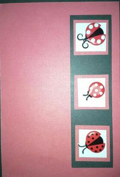 Lady bugs on red Lady Bugs, Greeting Cards, Red, Accessories, Jewelry Accessories