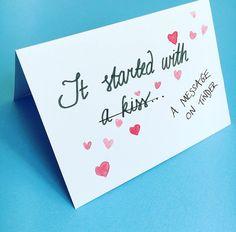 Valentines day card anniversary card tinder card by Sarahnicknicks