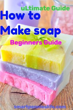 Beginners guide on how to make soap with and without lye. Find out how you can make easy DIY gorgeous soaps from scratch today. oils guide to make soap at homeRoxi Stevenson roxibatten Soap Beginners guide Making Bar Soap, Soap Making Recipes, Soap Making Process, Making Essential Oils, Essential Oils Soap, Diy Soap Easy, Easy Diy, Diy Soaps, Easy Crafts