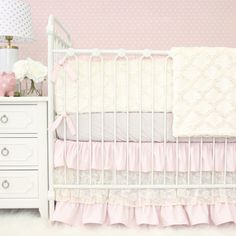 Find the perfect pink crib bedding for your baby girl's nursery! Shop all of our boutique baby bedding sets in various shades of pink & find one you'll adore. Princess Crib Bedding, Girl Crib Bedding Sets, Girl Cribs, Bedding Master Bedroom, Crib Sets, Nursery Bedding, Girl Nursery, Pink Bedding, Baby Bedding