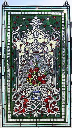 Opulent Garden Stained Glass Window