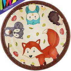 Woodland Party Plates - Large
