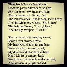 Resultado de imagen de lord tennyson poem about a dove