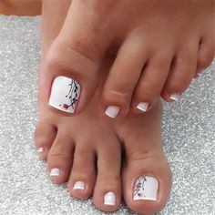 trend nail design inspiration picture - Page 47 of 109 - Inspiration Diary Pedicure Colors, Pedicure Designs, Toe Nail Designs, Acrylic Nail Designs, Manicure And Pedicure, Acrylic Nails, Pretty Toe Nails, Cute Toe Nails, Toe Nail Art
