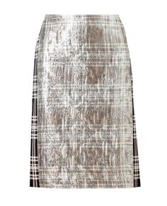 DRIES VAN NOTEN | 'Sylvian' Brocade and Plaid Silk-blend Skirt | Browns fashion & designer clothes & clothing