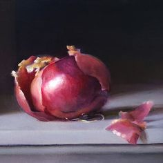 """Kelly Schamberger on Instagram: """"Peeling Back the Layers - 8""""x10"""" oil on linen. . This painting was hanging at my church for several months in 2019, and there was a woman…"""" Garlic Mushrooms, Layers, Photo And Video, Vegetables, Onions, Paintings, Oil, Woman, Instagram"""