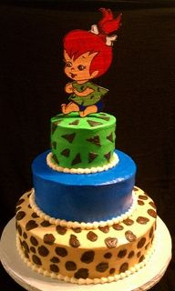 Pebbles And Bam Bam Cake Toppers